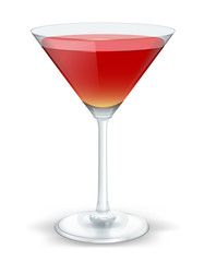 cocktail triangular red
