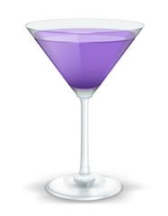 cocktail triangular purple