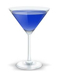 cocktail triangular dark blue