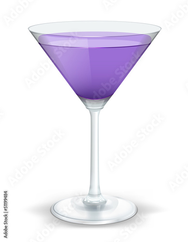 cocktail triangular purple