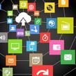 abstract web scheme of cloud technology