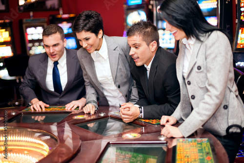 Excited group in casino