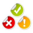 Access stickers set, vector illustration