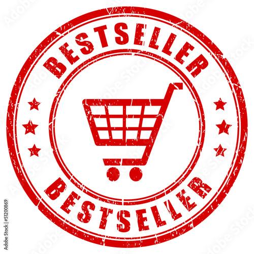 Vector red bestseller stamp