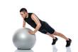 fitness, ball, exercise