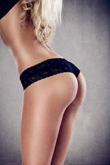 Buttocks - sexy butt in black lingerie
