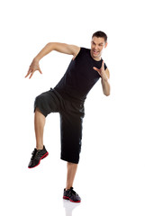 Zumba fitness man dancing