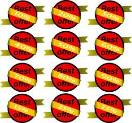 Best offer Vector Icon, Logo, Banner, Sticker, Price