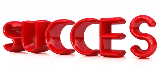 "3d red text ""succes"""