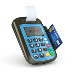 3d pos terminal with credit card