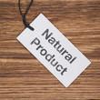 Recyclingpapierschild auf Holz NATURAL PRODUCT