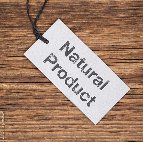 Recyclingpapierschild auf Holz NATURAL PRODUCT