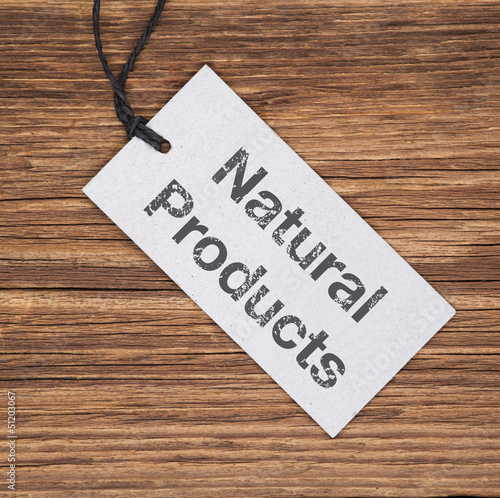 Recyclingpapier-Schild auf Holz NATURAL PRODUCTS