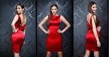 Collage of Beautiful fashion model