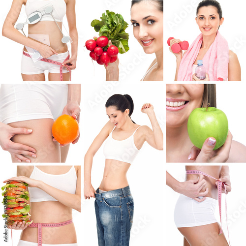 Healthy lifestyle collage