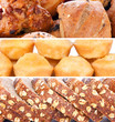 collage of pastry