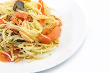 Papaya Salad,Thai Som Tam with crab