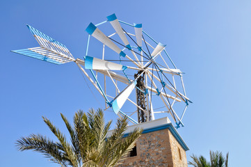 Ancient windmill in Ibiza (Spain)