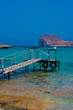 Empty pier in Balos Lagoon on Crete, Greece