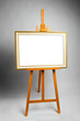 easel with painting frame