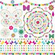 Set colorful design elements