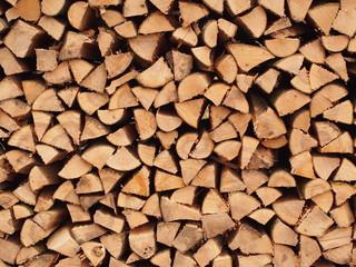 Holzscheite für Kaminofen