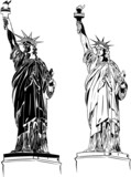 8 Statues of Liberty in the Set