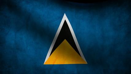 Saint Lucian flag.