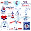 Nautical Sea Calligraphic Elements - for scrapbook and design in