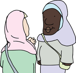 Muslim Ladies Talking