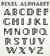 Art Deco Pixel Alphabet