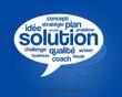 mots clés solution, stratégie, problème, idée