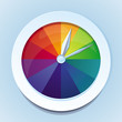 Vector rainbow watches - abstract icon