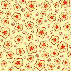 Abstract seamles floral pattern
