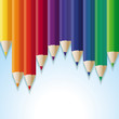 Vector abstract background with rainbow pencils