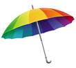 Vector umbrella  in rainbow colors