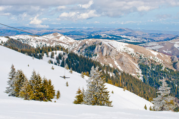 Dragging ski lift in Kopaonik