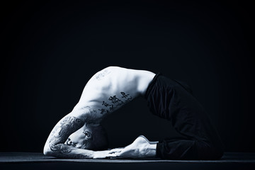 man meditation
