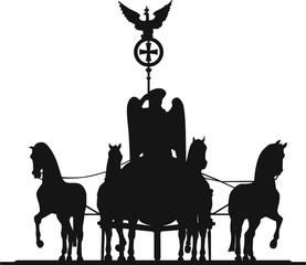 Quadriga Brandenburger Tor Pferde