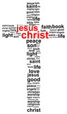 Fototapety Jesus Christ Word Cloud Concept