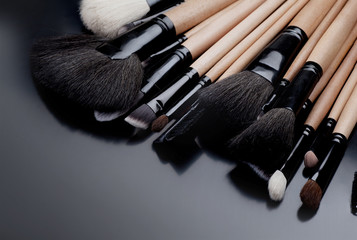 Collection of make-up brushes