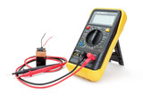 Electrical appliance ammeter - a multimeter to measure the batte