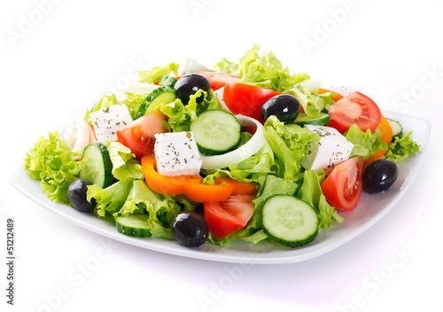 Aluminium Salade Fresh vegetable salad