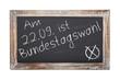 Schultafel - Bundestagswahl 2013 (III)
