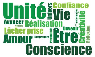 Nuage de mots esprit vert