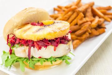 Hawaiian Tuna Burger