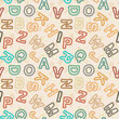 Letters in vintage style - vector educational school pattern