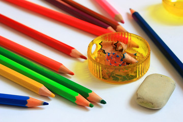 Принадлежности для рисования. Карандаши