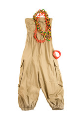 Baggy jumpsuit ethnic styling fashion composition