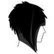 Medium Hair One length bob Icon 1